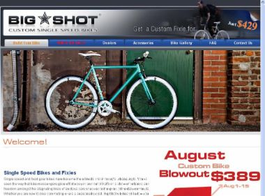 Big Shot Bikes - Custom Fixies and Single Speeds